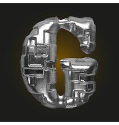 Metal figure g vector