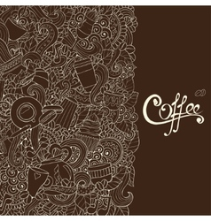 Coffee sketch notebook doodles vector