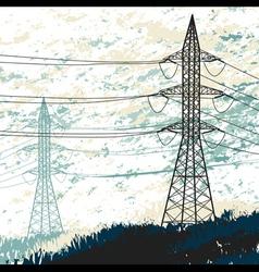 High voltage pylon vector