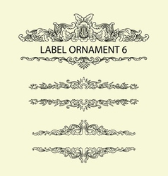 Label ornament 6 vector