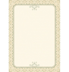 Beige background with decorative ornate vector