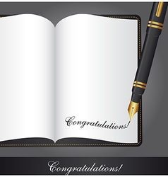 Congratulations note vector