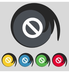Stop sign icon prohibition symbol no sign set vector