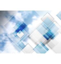 Tech background with clouds vector