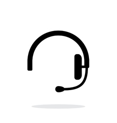 Headset icon on white background vector