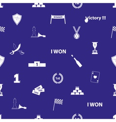 Flawless victory symbols blue and white seamless vector