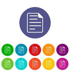 Document flat icon vector