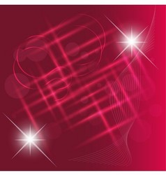 Abstract light bokeh on pink background vector