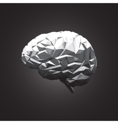 Paper abstract human brain on dark background vector