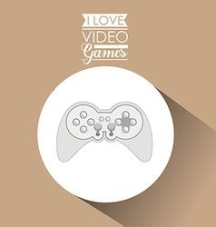 Video games design vector
