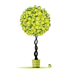 Energy apple tree in pot for your design vector