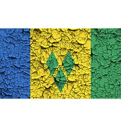 Flag of saint vincent and the grenadines with old vector
