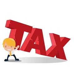 Man carry tax text heaviness vector