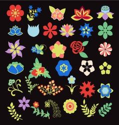 Symbols icon set flower set vector