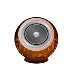 Dark orange audio speaker vector