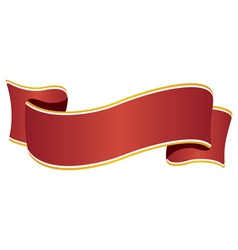 Ribbon wide red vector