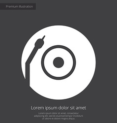 Vinyl turntable premium icon white on dark backgro vector