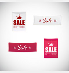 Realistic clothing label vector