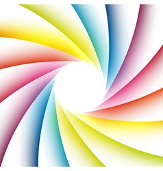 Bright rainbow poster for highlighting the message vector
