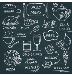 Chalkboard menu elements set 3 vector