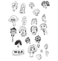 Heads collection vector
