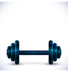 Dumbbell on white background vector