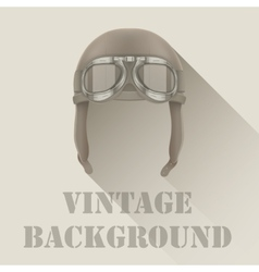 Background of retro aviator pilot or biker helmet vector