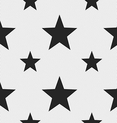 Star favorite icon sign seamless pattern with vector
