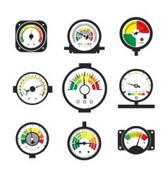 Manometer set pressure gauge and measurement vector