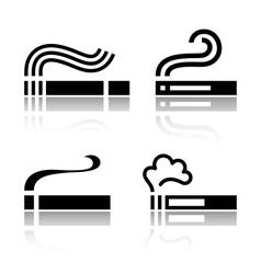 Set of cigarettes vector
