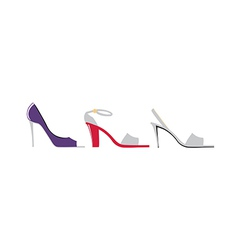 High heels are placed vector