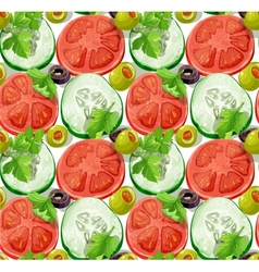 Seamless ornament slices of vegetables vector