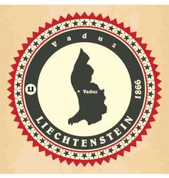 Vintage label-sticker cards of liechtenstein vector