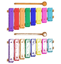 Cartoon of xylophone vector