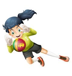 A soccer player from sri lanka vector