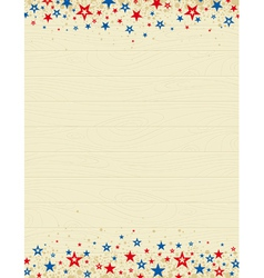 Wooden usa background with stars vector