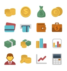 Money color icon set vector