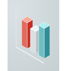 Isometric column chart icon vector