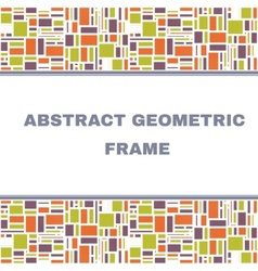 Abstract geometric colorful frame vector
