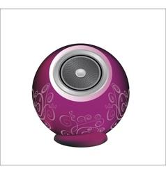 Dark pink audio speaker vector