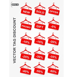 Discount icons hanger shape vector