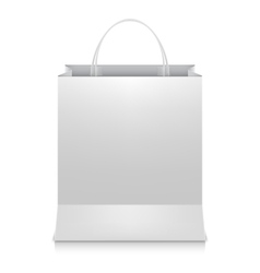 White shopping bag vector
