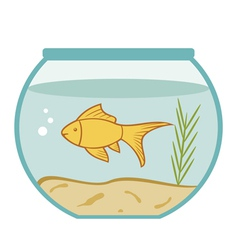 Goldfish in a bowl vector