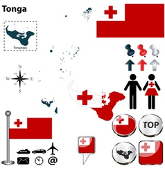 Tonga map small vector