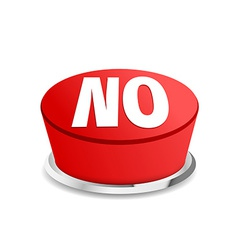 Time to say no button sign template vector