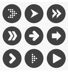 Set of stencil arrows vector