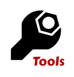 Spanner or wrench tool icon vector