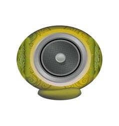 Yellow audio speaker vector
