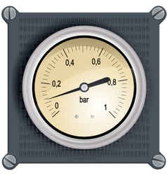 Analog dashboard vector
