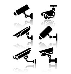 Video surveillance new big set stickers vector